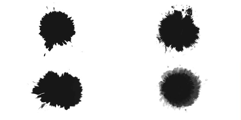 中国风水墨滴落扩散特效动画视频素材[44款]