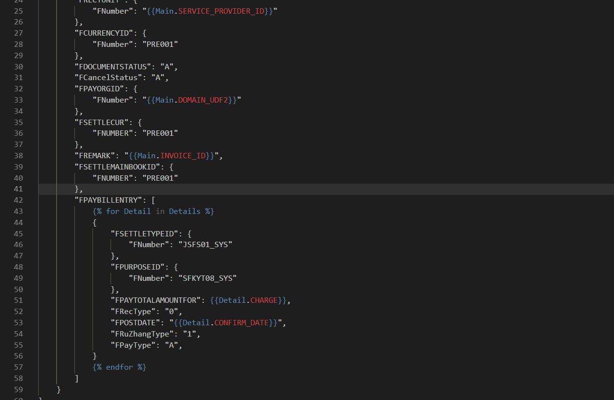 基于Liquid的JSON报文模板