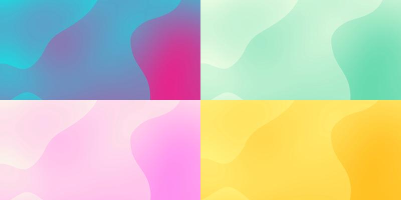 彩色融合渐变背景视频素材