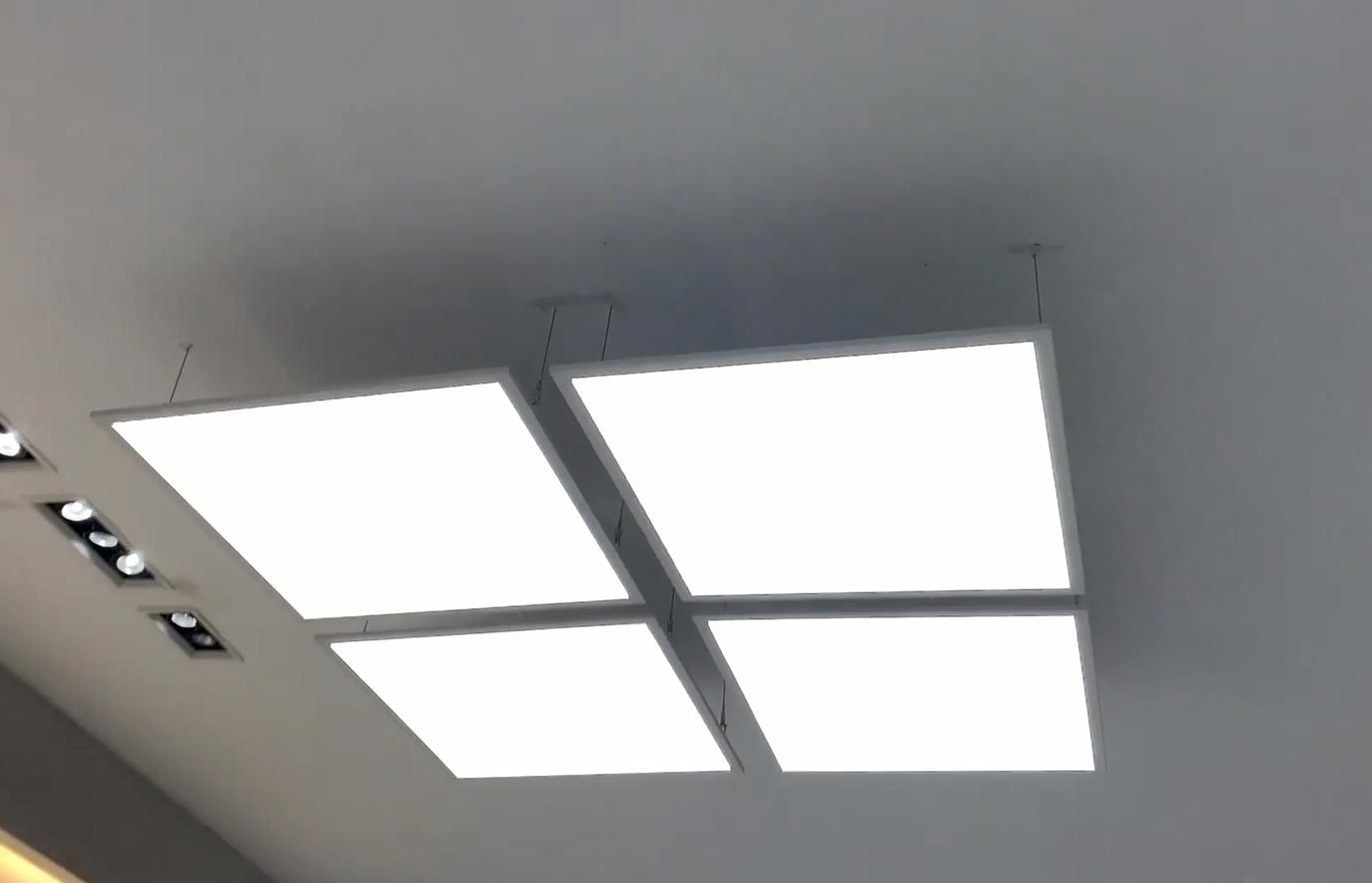 led panel light supplier producing led flat panel lights hanging sample