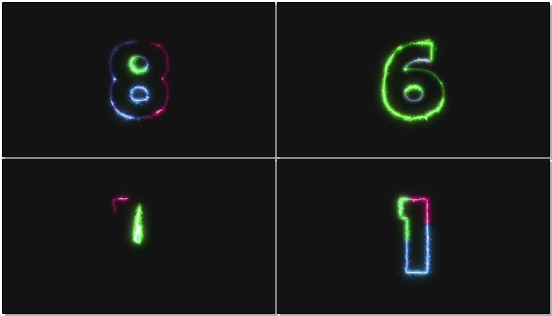 彩色激光电流10秒倒计时视频素材