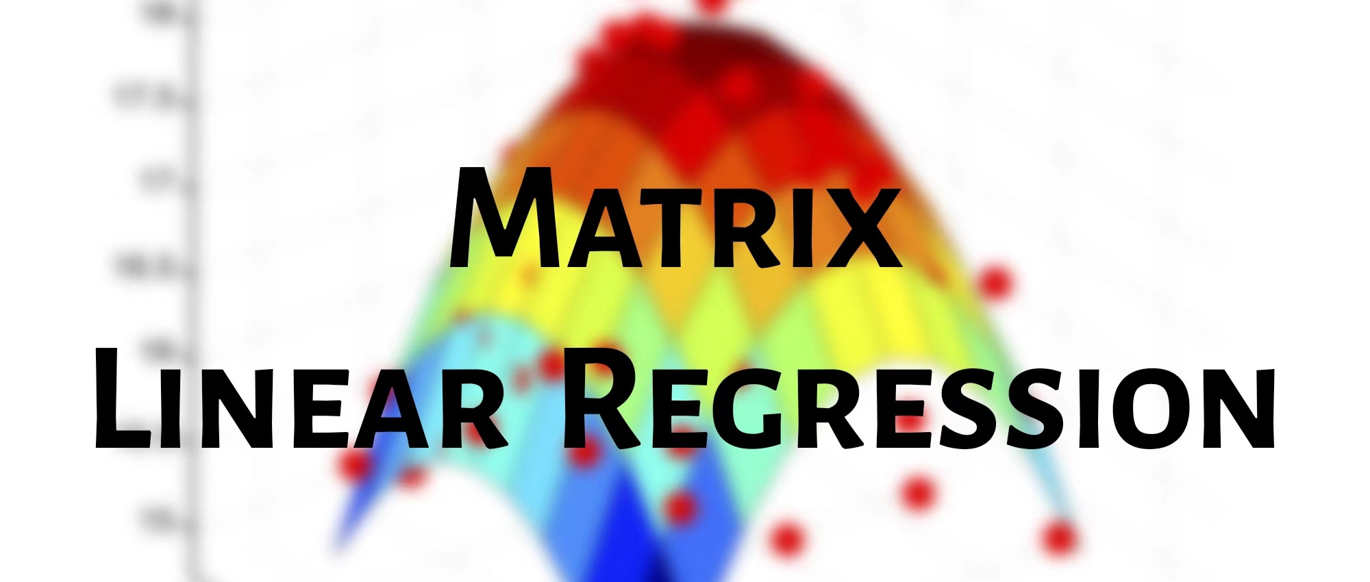 Matrix Linear Regression