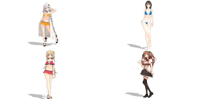 3D动漫美女全方位人物模型第4季[5款]