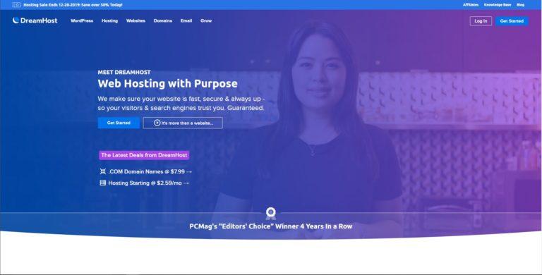 DreamHost: 支持按月付费&续费价格低廉