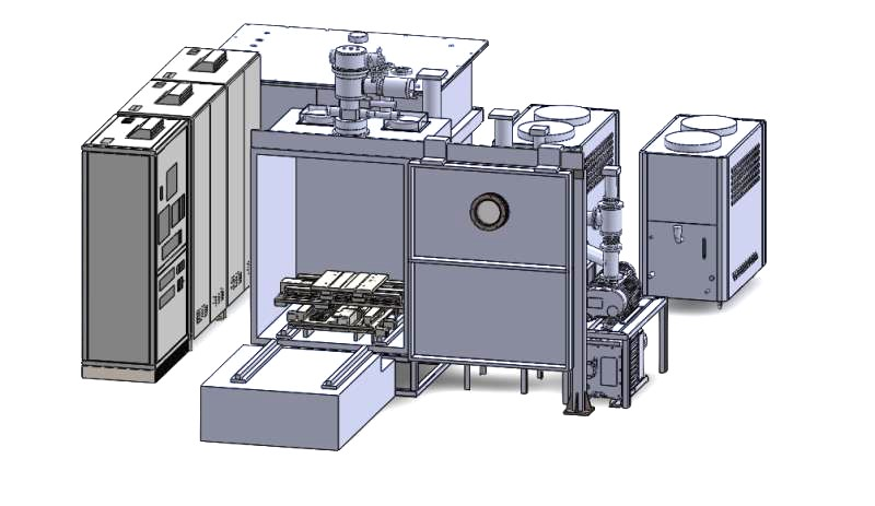 A drawing of the pilot 100-kW HHF test facility at ASIPP.