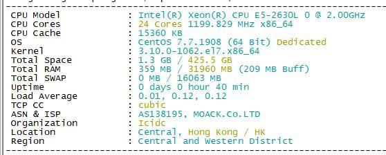 MOACK蘑菇:10M/韩国独服/29刀 随机E3/E5GPU 随机16/32RAM-V泡小破站