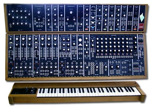 A 1975 Moog Modular 55 system