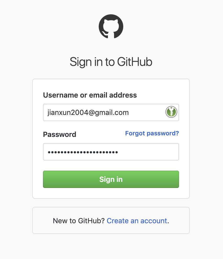 github登录