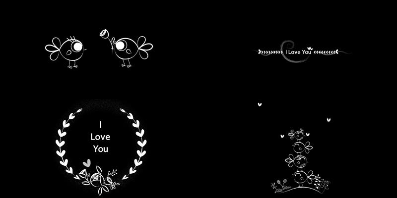 可爱卡通漫画手绘涂鸦图形动画视频素材_第2套[28款]