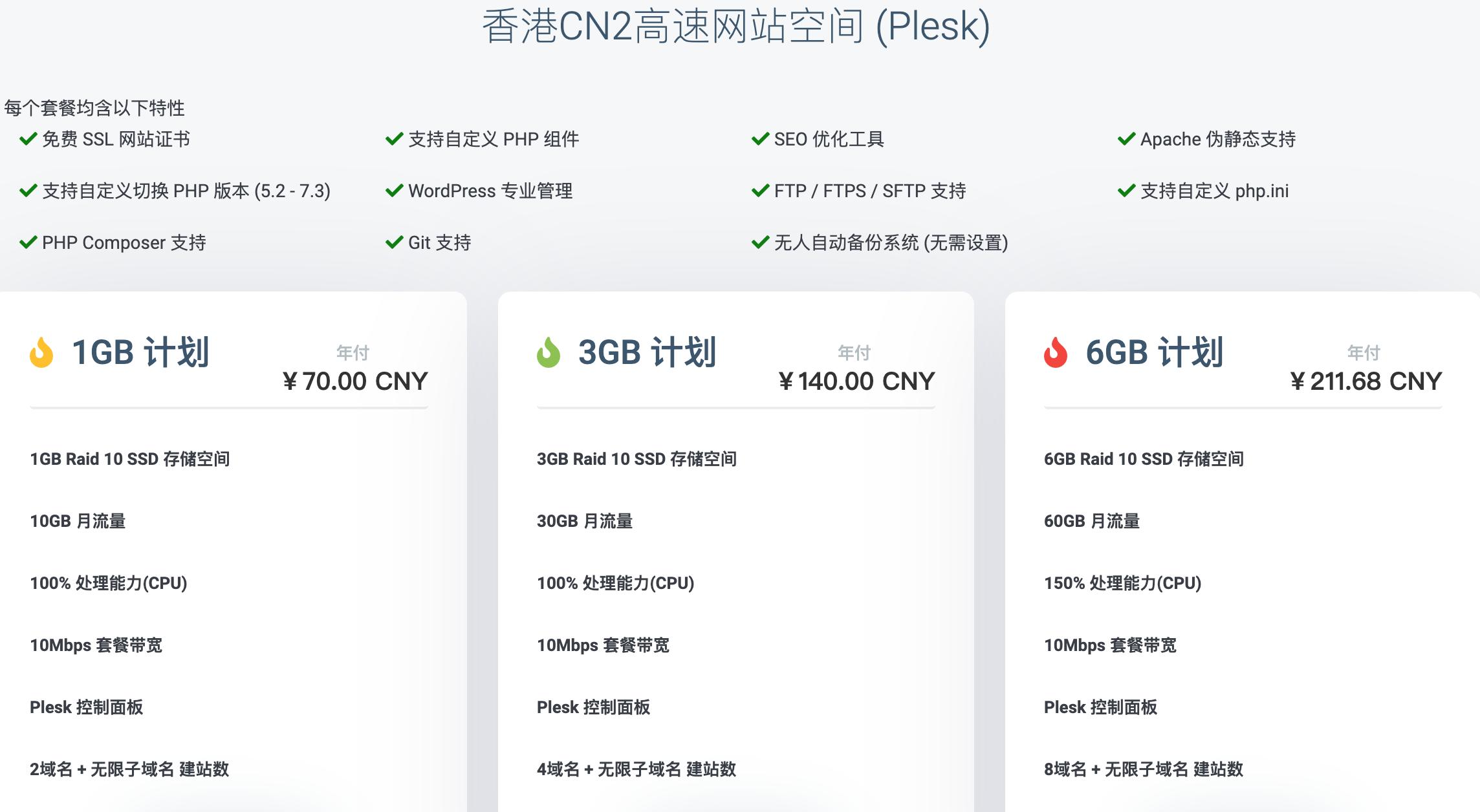 wikihost的Linux PHP香港主机虚拟空间1G/3G/6G,香港/美国/日本/韩国VPS