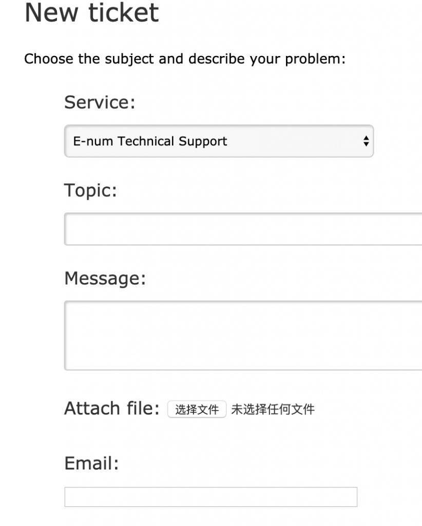 填写Webmoney工单内容