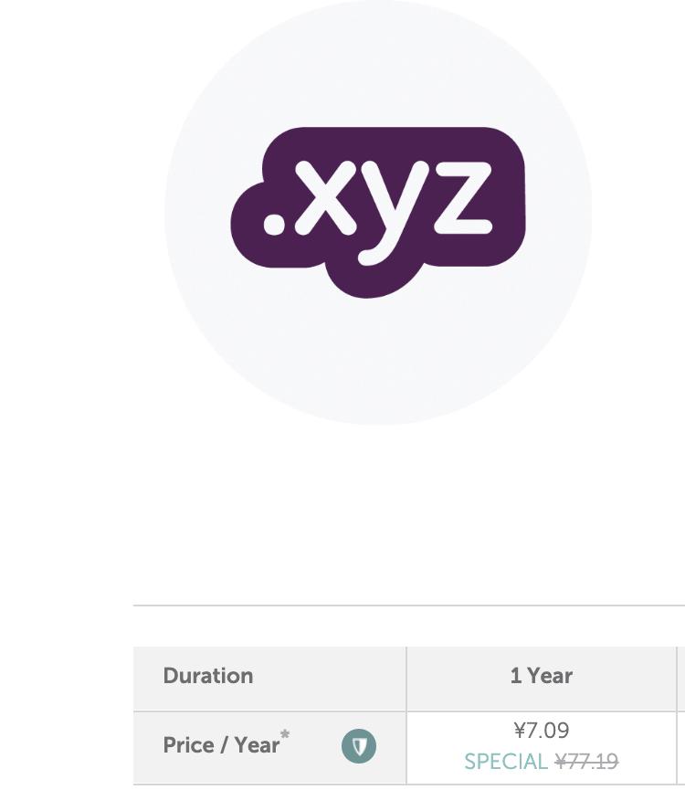 最近比较火的.xyz域名,只有7块钱……