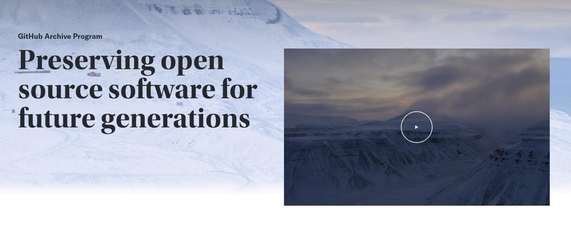 你的GitHub代码已成功入驻北极圈,至少保存1000年
