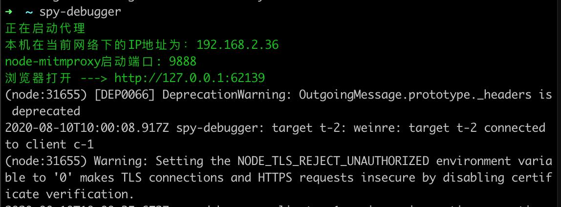 启动spy debugger