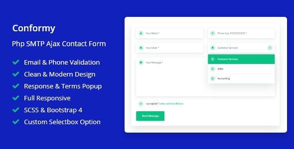 Conformy - 一个时尚的 PHP Ajax 联系表单源码