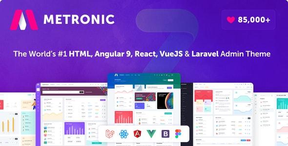 Metronic v7.1.1- Bootstrap 4 HTML, React, Angular 9, VueJS & Laravel Admin Dashboard Theme