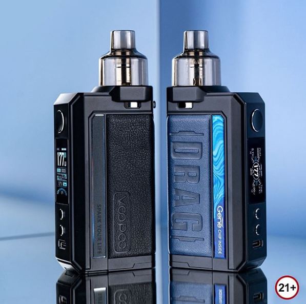 Soft Leather and Polished Steel Design: VooPoo Drag Max Kit