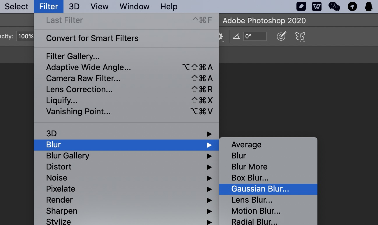 Gaussian Blur | Photoshop
