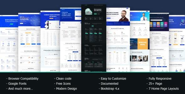 VRocket - HTML5 主机模板