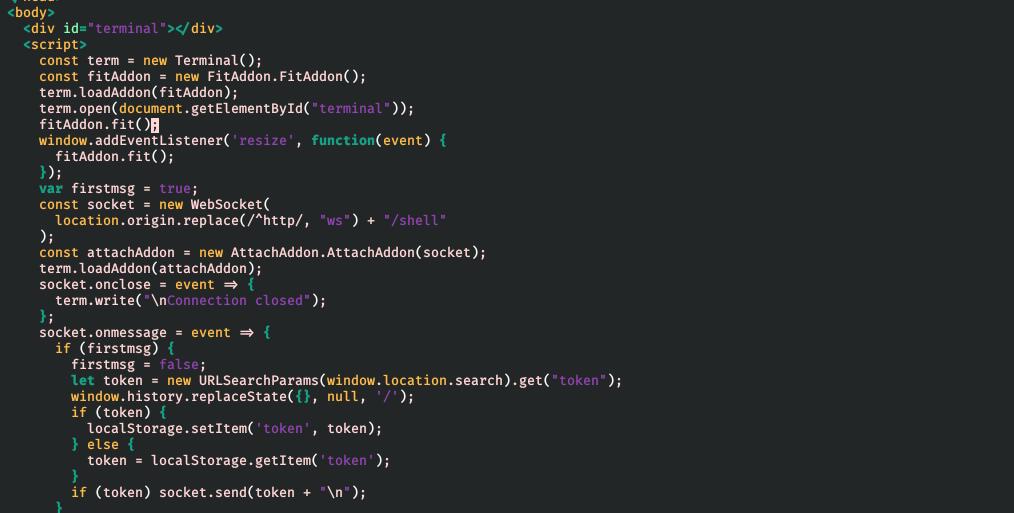 零端口返回的 HTML