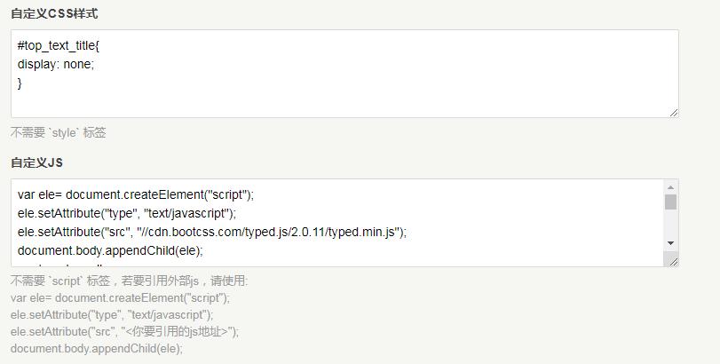 自定义CSS/JS