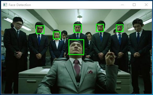 OpenCV人脸检测效果展示