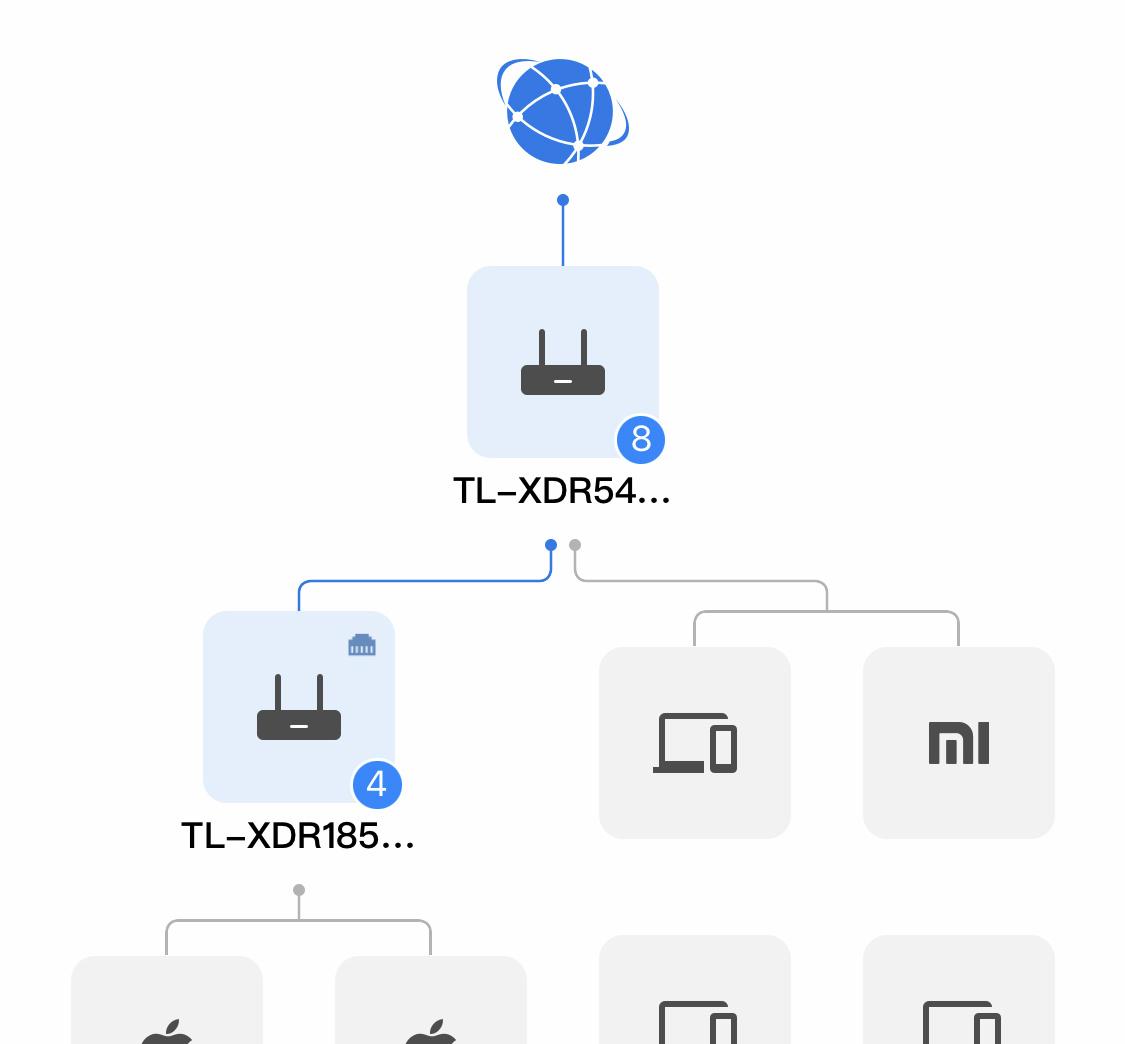 TP-LINK App 网络拓扑图