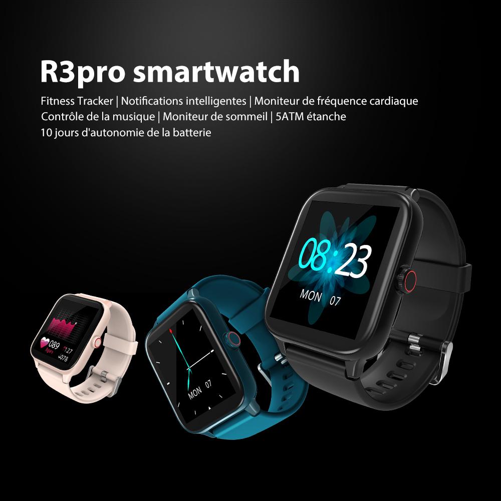 Montre Connectée Smartwatch Blackview R3 Pro Noir