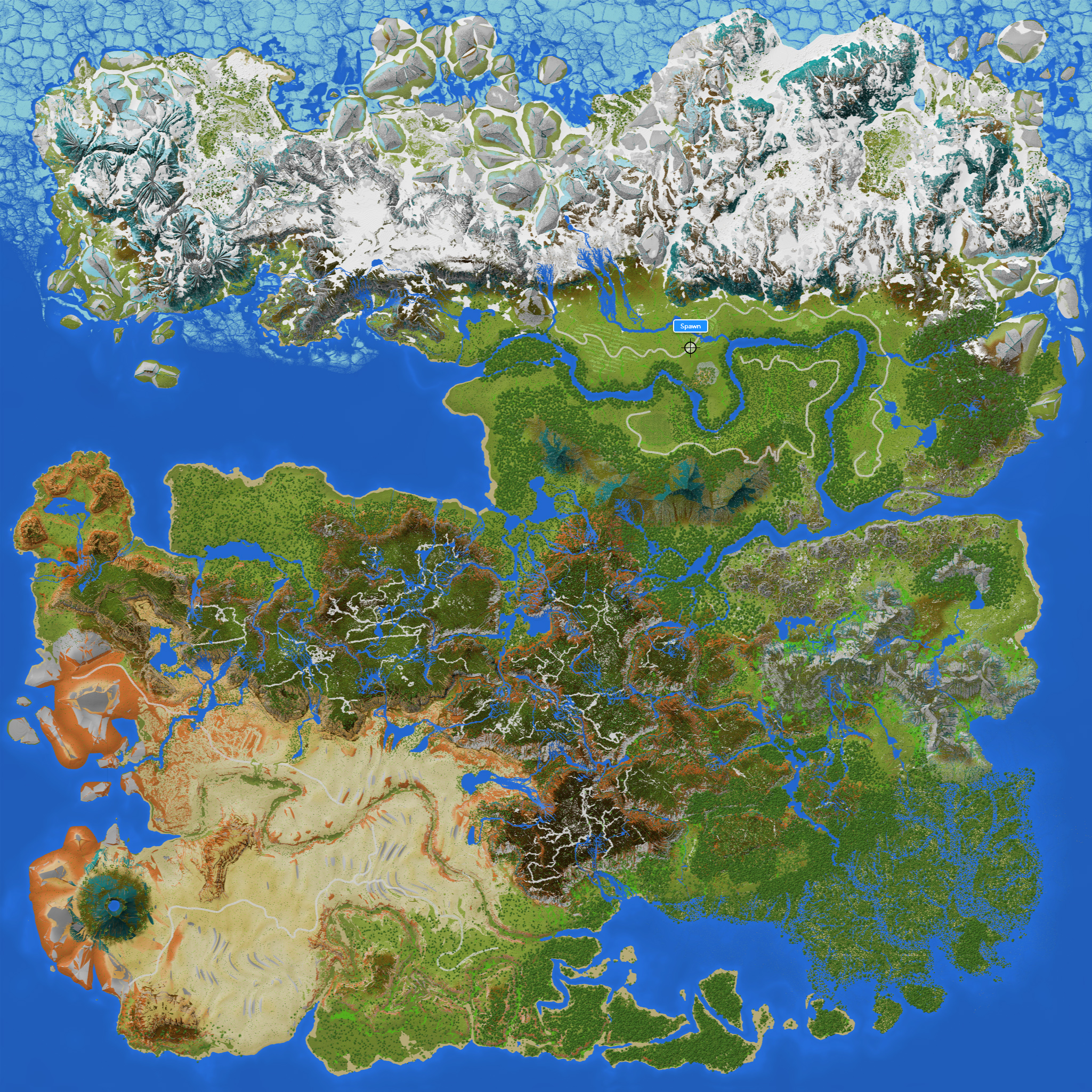 The map without legends