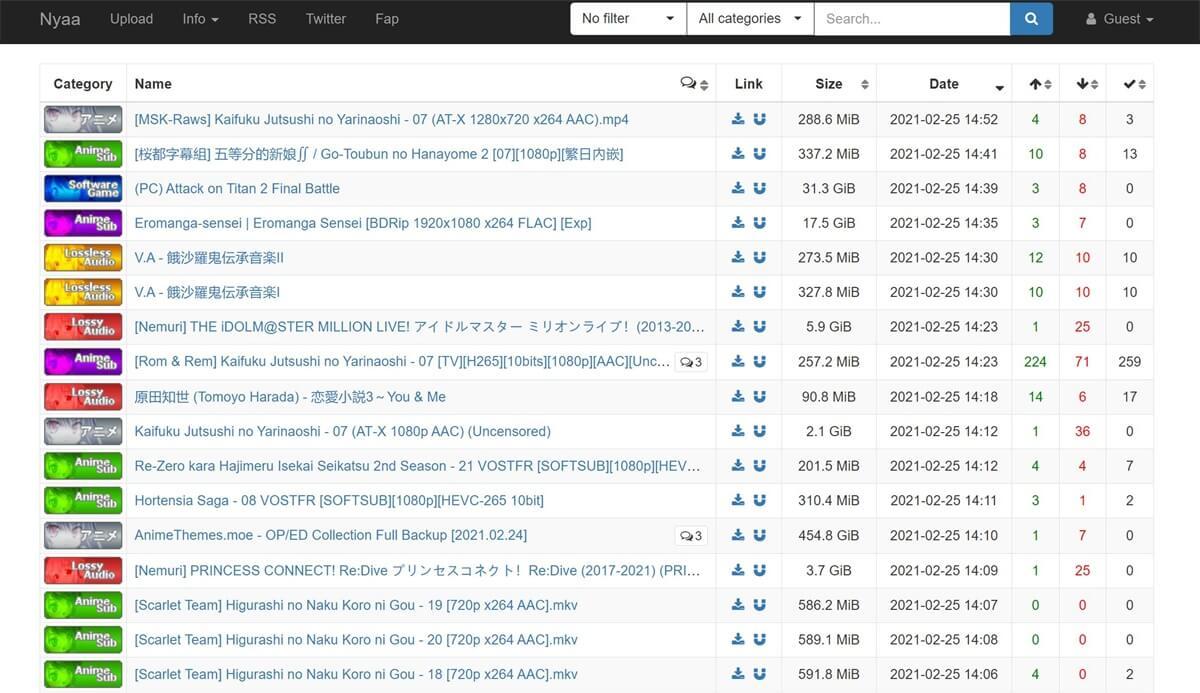 2021年十大热门BT(BitTorrent)种子网站榜单!
