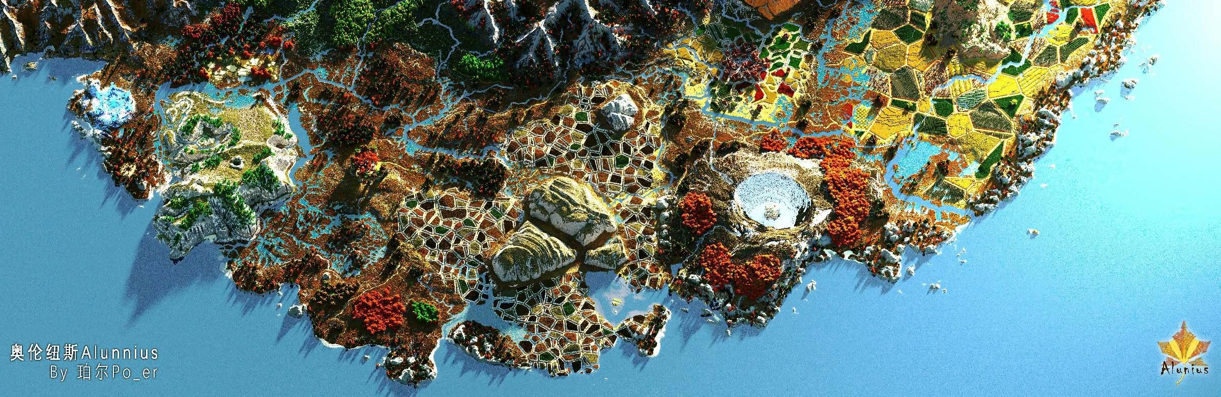 Alunnius - 6k*6k survival map Minecraft Map