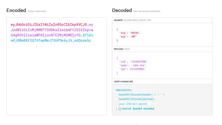 JSON Web Token 结构说明图