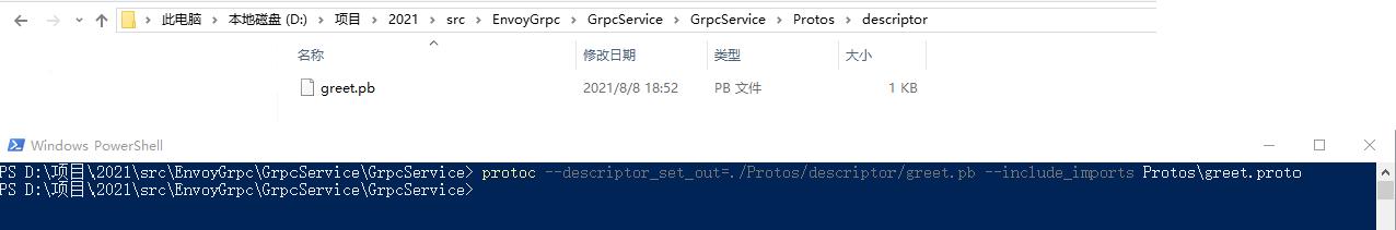 通过命令行生成 Protobuf 描述文件