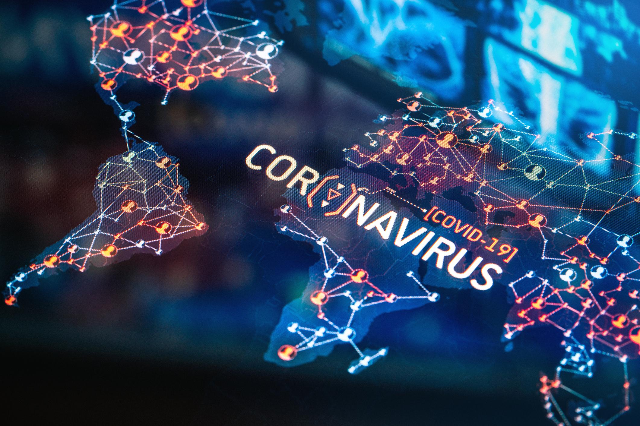 新型冠状病毒肺炎疫情地图