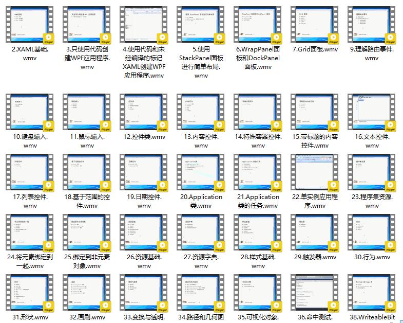 WPF基础视频教程-91xihu
